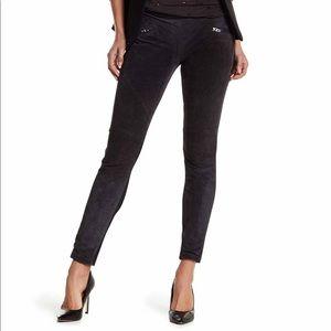 BLANKNYC Suede Leather Paneled Pull-On Leggings